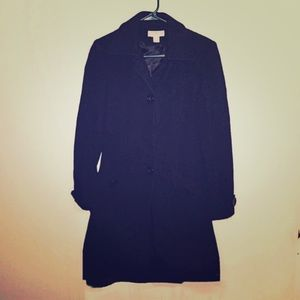 Long wool pea coat J Lo